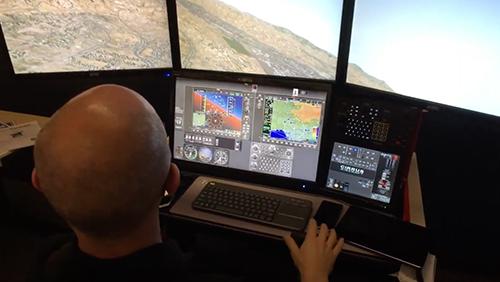 CalAir Touchscreen Flight Simulator